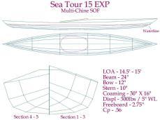 Sea Tour 15 EXP multi-chine Plans/Offsets
